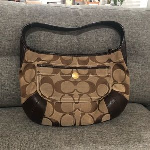 COACH | Signature Jacquard Brown Ergo Hobo | Bag